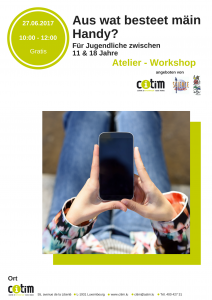 Atelier: Aus wat besteet mäin Handy? @ CITIM | Luxembourg | District de Luxembourg | Luxemburg