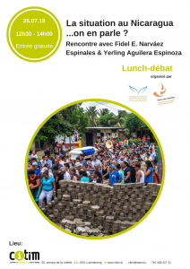 Lunch-débat : La situation au Nicaragua... On en parle ? @ CITIM | Luxembourg | District de Luxembourg | Luxembourg