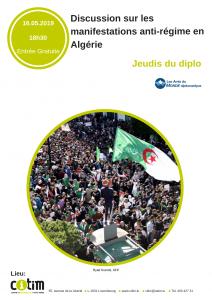 Jeudis du Diplo: Discussion sur les manifestations anti-régime en Algérie @ CITIM