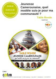 Table Ronde : Jeunesse camerounaise, quel modèle suis-je pour ma communauté ? @ CITIM